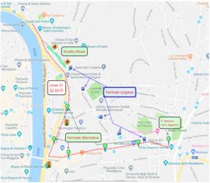 Mappa deviazione via Santa Chiara