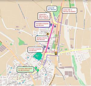 Mappa deviazione a Vigasio