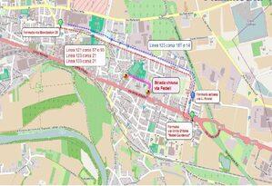 Mappa deviazione via Fedeli