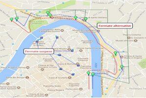 Mappa deviazione Verona centro