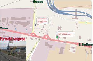 Mappa sospensione fermata Soave