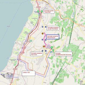 Mappa deviazione Colà