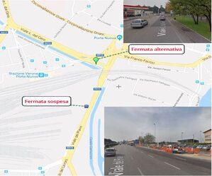 Mappa deviazione viale Piave