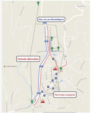 Mappa deviazione Montorio