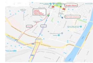 Mappa deviazione Marcia del Giocattolo