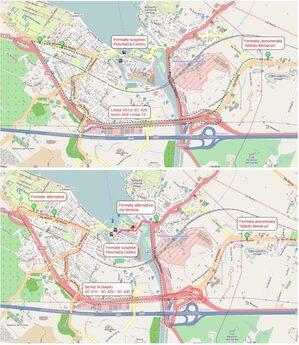 Mappa deviazione Peschiera del Garda