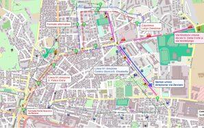 Mappa deviazione via Montorio