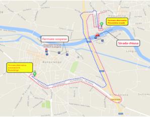 Mappa deviazione Bussolengo