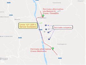 Mappa deviazione Tregnago