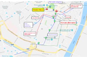 Mappa deviazione Verona Marathon